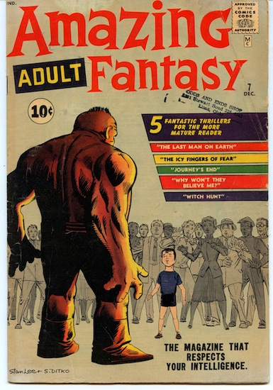 Amazing Adult Fantasy #7. Grade: 2.5 Good+ (GD+). Year: 1961