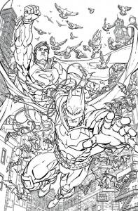 Batman Superman #28 co0loring